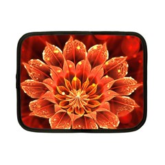 Beautiful Ruby Red Dahlia Fractal Lotus Flower Netbook Case (small)  by beautifulfractals
