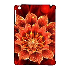 Beautiful Ruby Red Dahlia Fractal Lotus Flower Apple Ipad Mini Hardshell Case (compatible With Smart Cover) by beautifulfractals