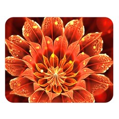 Beautiful Ruby Red Dahlia Fractal Lotus Flower Double Sided Flano Blanket (large)  by beautifulfractals
