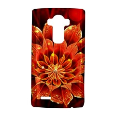 Beautiful Ruby Red Dahlia Fractal Lotus Flower Lg G4 Hardshell Case by beautifulfractals