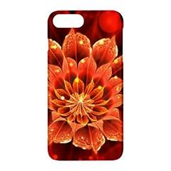 Beautiful Ruby Red Dahlia Fractal Lotus Flower Apple Iphone 7 Plus Hardshell Case by beautifulfractals