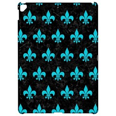 Royal1 Black Marble & Turquoise Colored Pencil Apple Ipad Pro 12 9   Hardshell Case by trendistuff