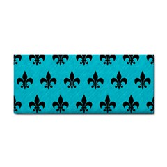 Royal1 Black Marble & Turquoise Colored Pencil (r) Cosmetic Storage Cases by trendistuff