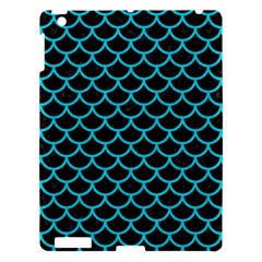 Scales1 Black Marble & Turquoise Colored Pencil (r) Apple Ipad 3/4 Hardshell Case by trendistuff