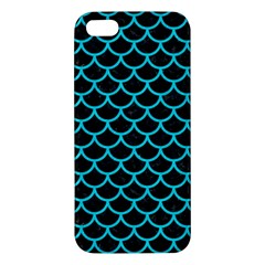Scales1 Black Marble & Turquoise Colored Pencil (r) Apple Iphone 5 Premium Hardshell Case by trendistuff