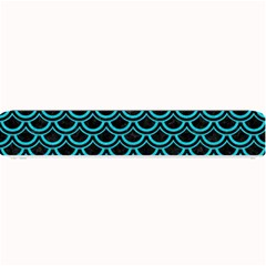 Scales2 Black Marble & Turquoise Colored Pencil (r) Small Bar Mats by trendistuff