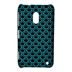 Scales2 Black Marble & Turquoise Colored Pencil (r) Nokia Lumia 620 by trendistuff