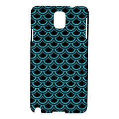 Scales2 Black Marble & Turquoise Colored Pencil (r) Samsung Galaxy Note 3 N9005 Hardshell Case by trendistuff