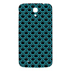 Scales2 Black Marble & Turquoise Colored Pencil (r) Samsung Galaxy Mega I9200 Hardshell Back Case by trendistuff