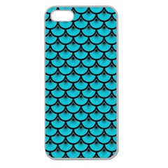 Scales3 Black Marble & Turquoise Colored Pencil Apple Seamless Iphone 5 Case (clear) by trendistuff