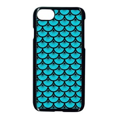 Scales3 Black Marble & Turquoise Colored Pencil Apple Iphone 7 Seamless Case (black) by trendistuff