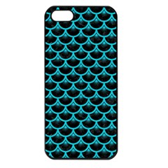 Scales3 Black Marble & Turquoise Colored Pencil (r) Apple Iphone 5 Seamless Case (black) by trendistuff