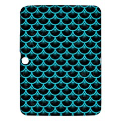 Scales3 Black Marble & Turquoise Colored Pencil (r) Samsung Galaxy Tab 3 (10 1 ) P5200 Hardshell Case  by trendistuff