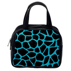 Skin1 Black Marble & Turquoise Colored Pencil Classic Handbags (one Side) by trendistuff