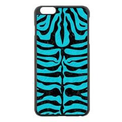Skin2 Black Marble & Turquoise Colored Pencil Apple Iphone 6 Plus/6s Plus Black Enamel Case by trendistuff