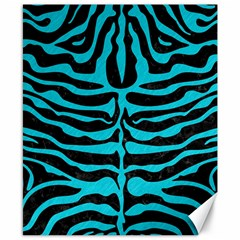 Skin2 Black Marble & Turquoise Colored Pencil (r) Canvas 8  X 10  by trendistuff