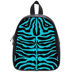 Skin2 Black Marble & Turquoise Colored Pencil (r) School Bag (small) by trendistuff