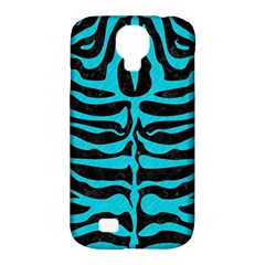 Skin2 Black Marble & Turquoise Colored Pencil (r) Samsung Galaxy S4 Classic Hardshell Case (pc+silicone) by trendistuff