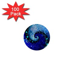 Nocturne Of Scorpio, A Fractal Spiral Painting 1  Mini Magnets (100 Pack)  by jayaprime