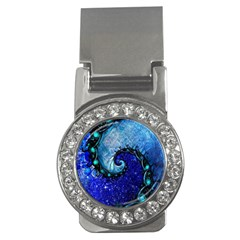 Nocturne Of Scorpio, A Fractal Spiral Painting Money Clips (cz)  by beautifulfractals
