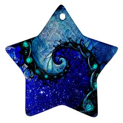 Nocturne Of Scorpio, A Fractal Spiral Painting Star Ornament (two Sides) by beautifulfractals
