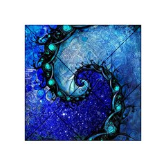 Nocturne Of Scorpio, A Fractal Spiral Painting Acrylic Tangram Puzzle (4  X 4 ) by jayaprime