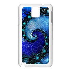 Nocturne Of Scorpio, A Fractal Spiral Painting Samsung Galaxy Note 3 N9005 Case (white) by beautifulfractals