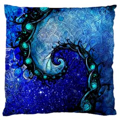 Nocturne Of Scorpio, A Fractal Spiral Painting Standard Flano Cushion Case (two Sides) by jayaprime