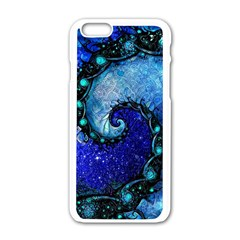 Nocturne Of Scorpio, A Fractal Spiral Painting Apple Iphone 6/6s White Enamel Case by beautifulfractals