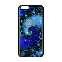 Nocturne Of Scorpio, A Fractal Spiral Painting Apple Iphone 6/6s Black Enamel Case by beautifulfractals