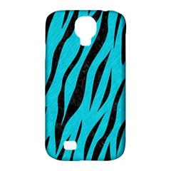Skin3 Black Marble & Turquoise Colored Pencil Samsung Galaxy S4 Classic Hardshell Case (pc+silicone) by trendistuff