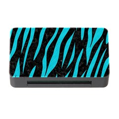 Skin3 Black Marble & Turquoise Colored Pencil (r) Memory Card Reader With Cf by trendistuff
