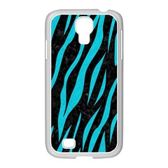 Skin3 Black Marble & Turquoise Colored Pencil (r) Samsung Galaxy S4 I9500/ I9505 Case (white) by trendistuff