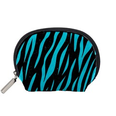 Skin3 Black Marble & Turquoise Colored Pencil (r) Accessory Pouches (small)  by trendistuff