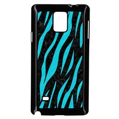 Skin3 Black Marble & Turquoise Colored Pencil (r) Samsung Galaxy Note 4 Case (black) by trendistuff