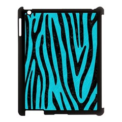 Skin4 Black Marble & Turquoise Colored Pencil (r) Apple Ipad 3/4 Case (black) by trendistuff