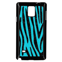 Skin4 Black Marble & Turquoise Colored Pencil (r) Samsung Galaxy Note 4 Case (black)