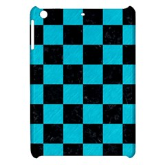 Square1 Black Marble & Turquoise Colored Pencil Apple Ipad Mini Hardshell Case by trendistuff