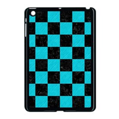 Square1 Black Marble & Turquoise Colored Pencil Apple Ipad Mini Case (black) by trendistuff