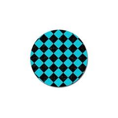 Square2 Black Marble & Turquoise Colored Pencil Golf Ball Marker (10 Pack) by trendistuff