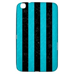 Stripes1 Black Marble & Turquoise Colored Pencil Samsung Galaxy Tab 3 (8 ) T3100 Hardshell Case  by trendistuff