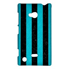 Stripes1 Black Marble & Turquoise Colored Pencil Nokia Lumia 720 by trendistuff