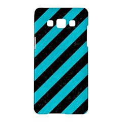 Stripes3 Black Marble & Turquoise Colored Pencil (r) Samsung Galaxy A5 Hardshell Case  by trendistuff