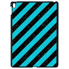 Stripes3 Black Marble & Turquoise Colored Pencil (r) Apple Ipad Pro 9 7   Black Seamless Case by trendistuff