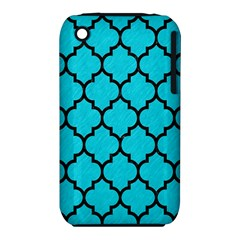 Tile1 Black Marble & Turquoise Colored Pencil Iphone 3s/3gs by trendistuff