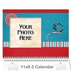 2018 Celebrate America Calendar By Lisa Minor   Wall Calendar 11  X 8 5  (12 Months)   Jpblslptn0m8   Www Artscow Com Cover