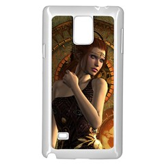 Wonderful Steampunk Women With Clocks And Gears Samsung Galaxy Note 4 Case (white) by FantasyWorld7