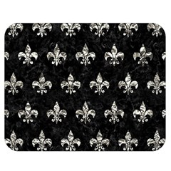 Royal1 Black Marble & Silver Foil Double Sided Flano Blanket (medium)  by trendistuff