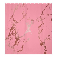 Luxurious Pink Marble Shower Curtain 66  X 72  (large)  by tarastyle