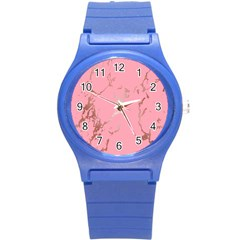 Luxurious Pink Marble Round Plastic Sport Watch (s) by tarastyle